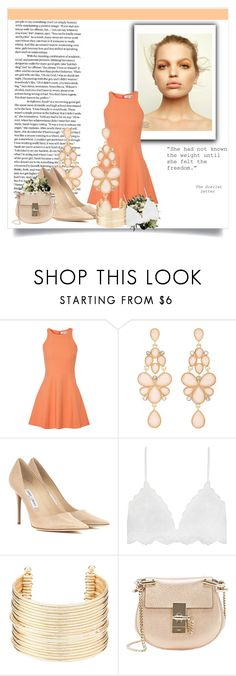 """""""Hey Nude!"""" by balmahe on Polyvore featuring Elizabeth and James, Charlotte Russe, Jimmy Choo and Chloé"""