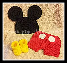 Mickey Mouse Crochet Halloween Costume any size 0-18months. @Sharli Bronson