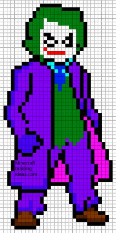 The Joker perler bead pattern