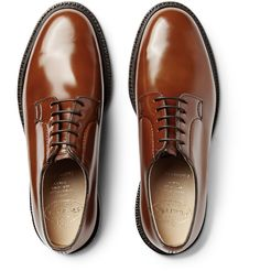 Church's polished-leather derby shoes.