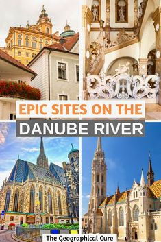 Here's my guide to the best 20 must see sites along the Danube River. The Danube River is a popular route that cuts through Hungary, Austria, Slovakia, and Germany. The blue-green river is dotted with gorgeous landscapes -- mountains, gorges, rolling vineyards -- and amazing cultural landmarks. Whether you're cruising, driving, or cycling, you'll be enchanted by its natural beauty and UNESCO sites. #DanubeRiver #DanubeCruise #Austria #Budapest #Germany #Vienna #UNESCO #EuropeItineraries