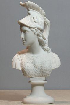 Athene Athena Minerva Pallas Goddess of Wisdom Bust Head