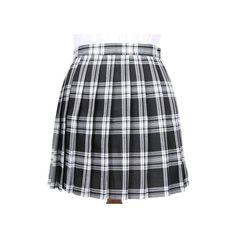 Women's High Rise Oversize Plaid Print Classic Mini A-Line Pleated... (523.340 VND) ❤ liked on Polyvore featuring skirts, mini skirts, high-waist skirt, high waisted skirts, pleated skirt, plaid mini skirt and plaid pleated skirts