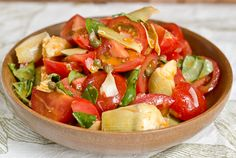 Tomato, Caper and Artichoke Salad