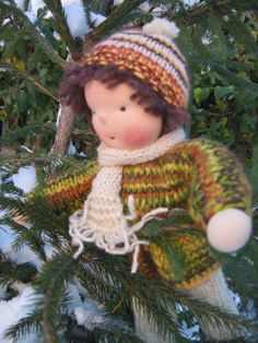 Waldorf type knitted Boy by FeltingZsuska on Etsy