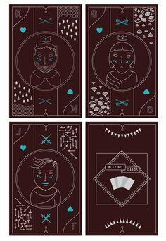 Playing Cards by Alan de Sousa Silva, via Behance