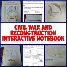 This download features 15 Interactive Notebook pages for American History that cover the Civil War through Reconstruction. The Interactive Notebook pages include graphic organizers, creative foldables, timelines, and more!   These are incredible resources for getting students engaged and active in their learning and allowing them to be creative with their notes.