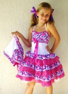 vestidos caipira para festa junina infantil super fofo
