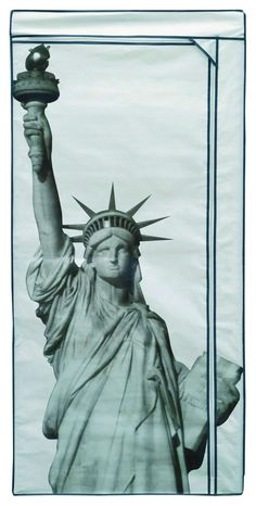 Compactor 100 Percent Polypropylene Wardrobe New York Statue of Liberty