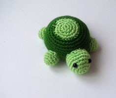 Nursery crochet amigurumi turtle. LOVE crochet animals! ♡