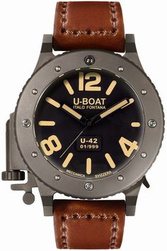 U-Boat Watch U-42 53mm Limited Edition #360-image-yes #bezel-fixed #bracelet-strap-leather #brand-u-boat #case-material-titanium #case-width-53mm #delivery-timescale-2-4-weeks #dial-colour-black #gender-mens #limited-edition-yes #luxury #movement-automatic #official-stockist-for-u-boat-watches #packaging-u-boat-watch-packaging #subcat-u-42 #supplier-model-no-6157 #warranty-u-boat-official-2-year-guarantee #water-resistant-30m