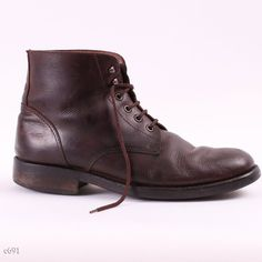Classy Brown Men Boots / 80s Unisex Boots /  sz by BetaPorHomme, $52.00