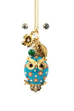 Poppy Owl Charm Necklace