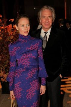 October 23, 2006 -- Alan Rickman and Megan Dodds at The Acting Company's Annual Masquerade Costume Ball in New York. -- Photo by Mychal Watts