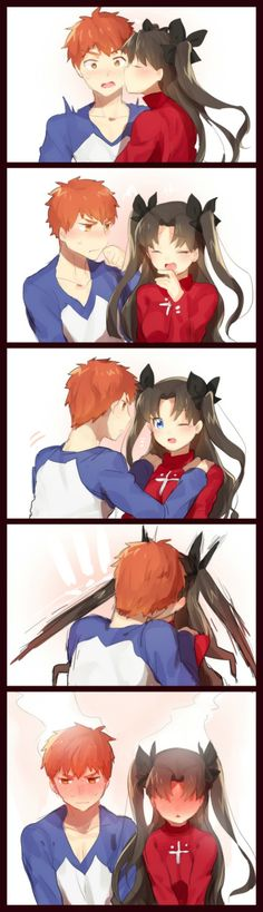 Fate/Stay Night: Shirou and Rin in a photobooth - Imgur