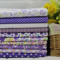 One Pcs Cotton Fabric Pre Cut Cotton Cloth Fabric for Sewing Purple S0021 | eBay
