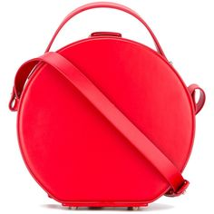 Nico Giani circular shoulder bag (€435) ❤ liked on Polyvore featuring bags, handbags, shoulder bags, red, real leather purses, red handbags, shoulder bag purse, leather shoulder handbags and genuine leather purse