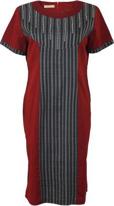 Tenun Lurik Lombok Subahnale Dress Merah