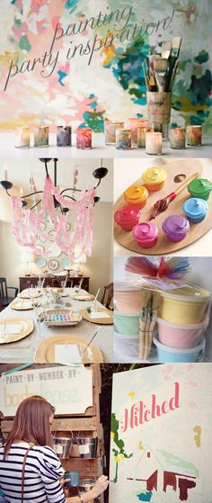 Painting Party! {Shower and Birthday Party Inspiration}
