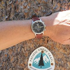 The Classic, hiking a section of the Pacific Crest Trail near Devil's Postpile NP.  This year marks the 50th anniversary of the National Trails System Act, establishing the PCT and Appalachian Trail as National Scenic Trails, helping to preserve these national treasures  for future generations.  #WingmanWatches #findyourpark #findyourtrail #wheresyourwingman #customwatch