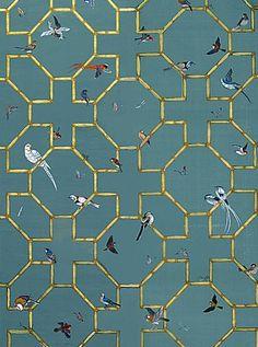 wallpaper | Bamboo and Birds Wallpaper - asian - wallpaper - Paul Montgomery ...