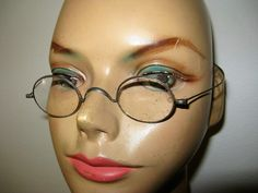 Cool Steel Frame Antique Eyeglasses SteamPunk by TheInstantMemory