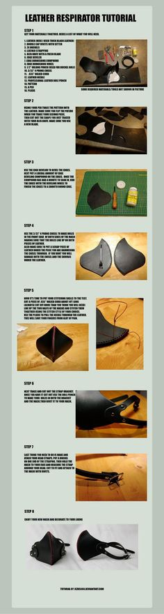Leather Respirator Tutorial by ~jezus666 on deviantART
