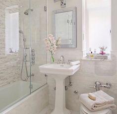 20 Stunning Small Bathroom Designs   Grey white bathrooms, Gray ...