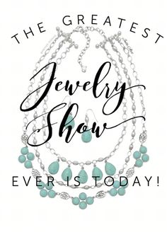 The greatest Premier Designs jewelry show ever is today!!   Facebook.com/CiboloJewelryLady