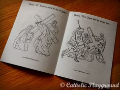 Little Stations of the Cross booklet! Perfect for little ones to color and put in their pockets!