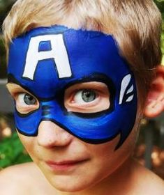 If you're looking for a quick and easy Captain America face paint design, you've come to the right place! In this step by step tutorial, you'll learn how to face paint Captain America and which face paints and tools to use. Hulk Face Painting, Disney Face Painting, Superhero Face Painting, Face Painting For Boys, Face Painting Designs, Body Painting, Face Paintings, Captain America Makeup, Captain America Face Paint