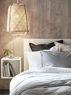The small bedroom that feels like a luxury suite - IKEA New Furniture, Bedroom Furniture, Bedroom Decor, Malm Bed Frame, Ikea Eket, Flexible Furniture, Bedroom Corner, Big Beds, Wall Mounted Shelves