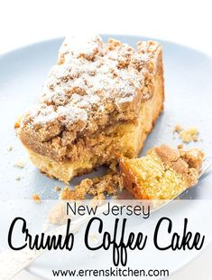 This New Jersey Crumb Coffee Cake creates a moist succulent cake yet easy to make topped with a cinnamon crumble topping youll be serving it as dessert on all occasions! Baking Recipes, Cake Recipes, Dessert Recipes, Kitchen Recipes, Dessert Ideas, Brunch Recipes, Drink Recipes, New Jersey, Crumb Coffee Cakes