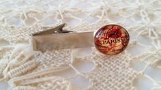 Paris map tie clip by FunkyTypes on Etsy