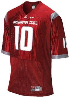 Nike Washington State Cougars Men's #10 Home Replica Football Jersey by Nike, Jeff Tuel