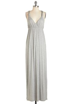 What's Knot to Like? Dress. Everything about this heather-grey maxi dress fills you with delight - and its no surprise! #grey #modcloth
