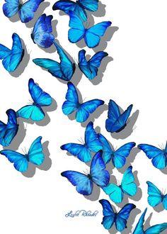 """""""Butterfly Blanket"""" digital artFine Art by Leslie Rhoades AKA MrsHappy [If inter… - Schmetterling Blue Butterfly Wallpaper, Butterfly Clip Art, Butterfly Drawing, Butterfly Pictures, Butterfly Painting, Pastel Wallpaper, Butterfly Template, Butterfly Background, Crown Template"""