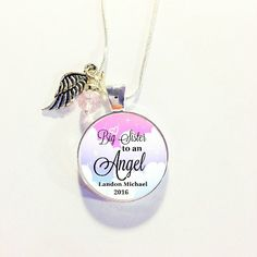 MEMORIAL CHARM  Big SISTER to An Angel Baby by AnnmarieJewelryTree
