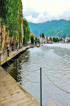The boardwalk on Lake Ohrid, Macedonia