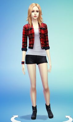 JS Boutique: Red Plaid Jacket - Sims 4 Downloads