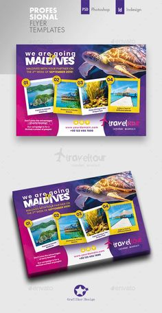 Buy Travel Tours Flyer Templates by grafilker on GraphicRiver. Travel Tours Flyer Templates Fully layered INDD Fully layered PSD 300 Dpi, CMYK IDML format open Indesign or late. Creative Flyer Design, Creative Flyers, Travel Brochure, Brochure Design, Tour Posters, Travel Posters, What Is Fashion Designing, Web Banner Design, Layout Design