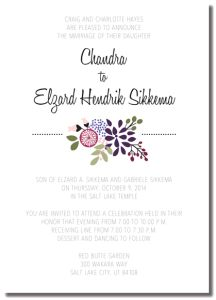 Beautiful Wedding Announcements One Sided Colorful Wedding Invitations, Affordable Wedding Invitations, Wedding Colors, Wedding Places, Wedding Place Cards, You Are Invited, One Sided, Marriage, Invites
