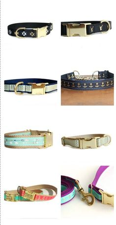 Unique, Cute, Personalized Dog Collars, Leashes, and more #muttsnbones