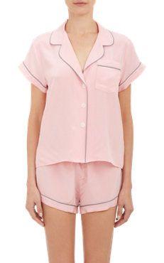 Crepe de Chine Pajama Shirt