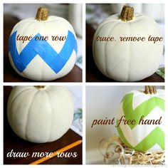 Painted Pumpkins {Fall Vignette}   a thoughtful place