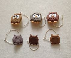 Owl Wine Charms by BelleAtlanta on Etsy, $12.00 #holiday #stockingstuffer