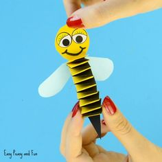 Accordion Paper Bee Craft for Kids