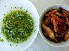 roasted vegetables with pesto