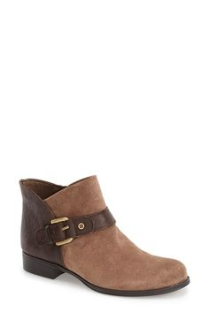 Naturalizer 'Jarrett' Buckle Strap Ankle Bootie suede/leather taupe/brown; leather black 4sh 1h sz7.5 128.95 1/16