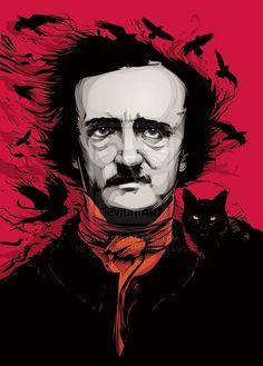 "(Not a book but one of the favorite writers!) ""Edgar Allan Poe""  by `CrisVector (http://www.crisvector.com/)  More info here: http://crisvector.deviantart.com/art/Edgar-Allan-Poe-214659580?q=boost%3Apopular%20in%3Adigitalart%2Fvector%20max_age%3A744h&qo=14"